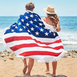Other - USA FLAG PATRIOTIC BEACH BLANKET- 4TH OF JULY
